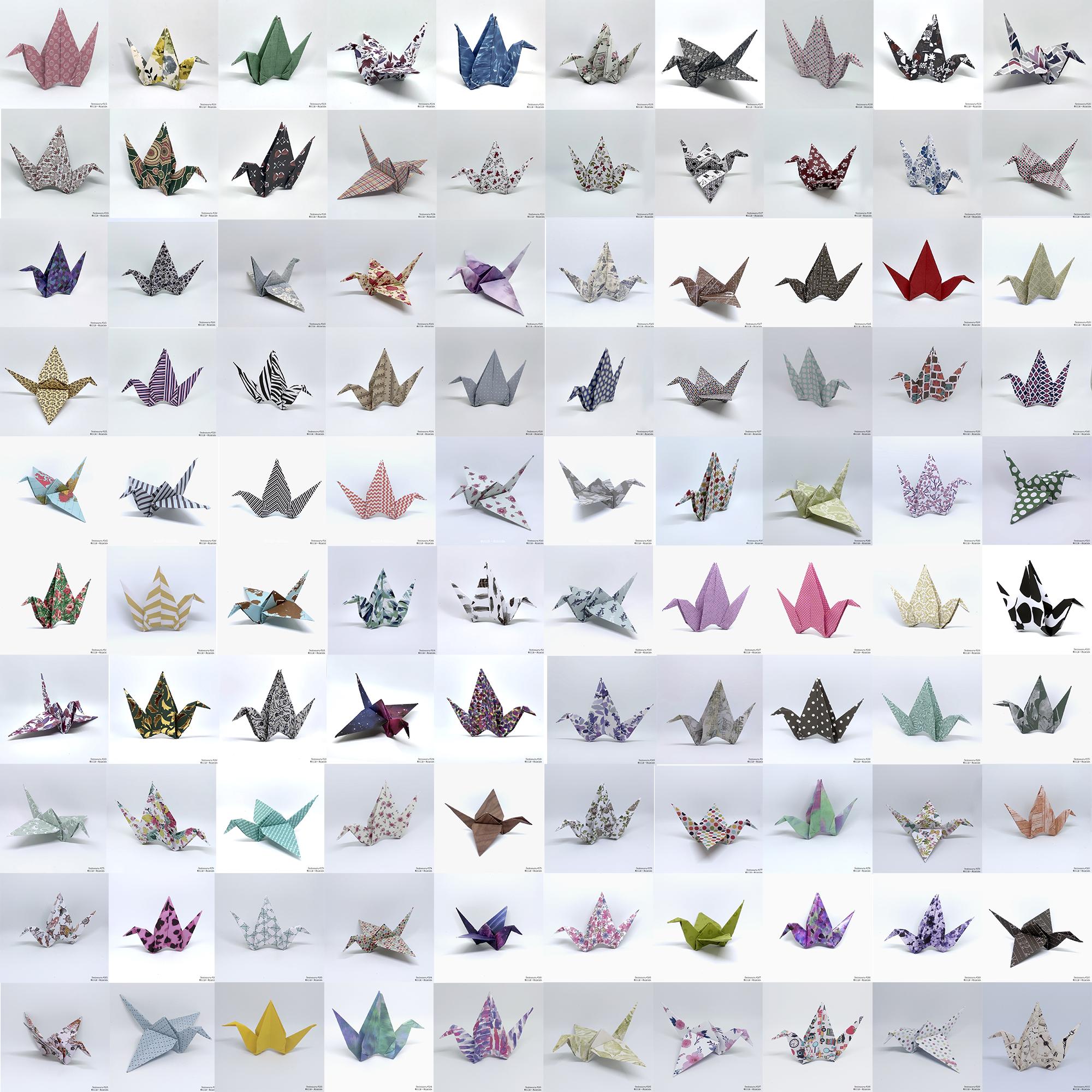 200 grullas de origami que ya pueden volar Atunida