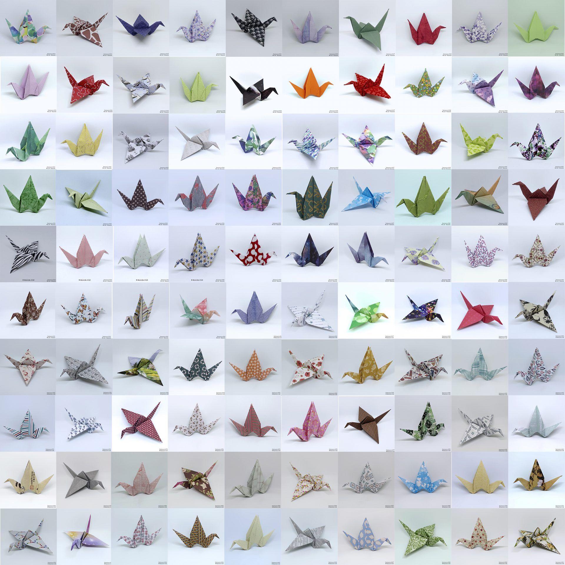 ¡Ya he hecho 300 grullas de origami! Atunida