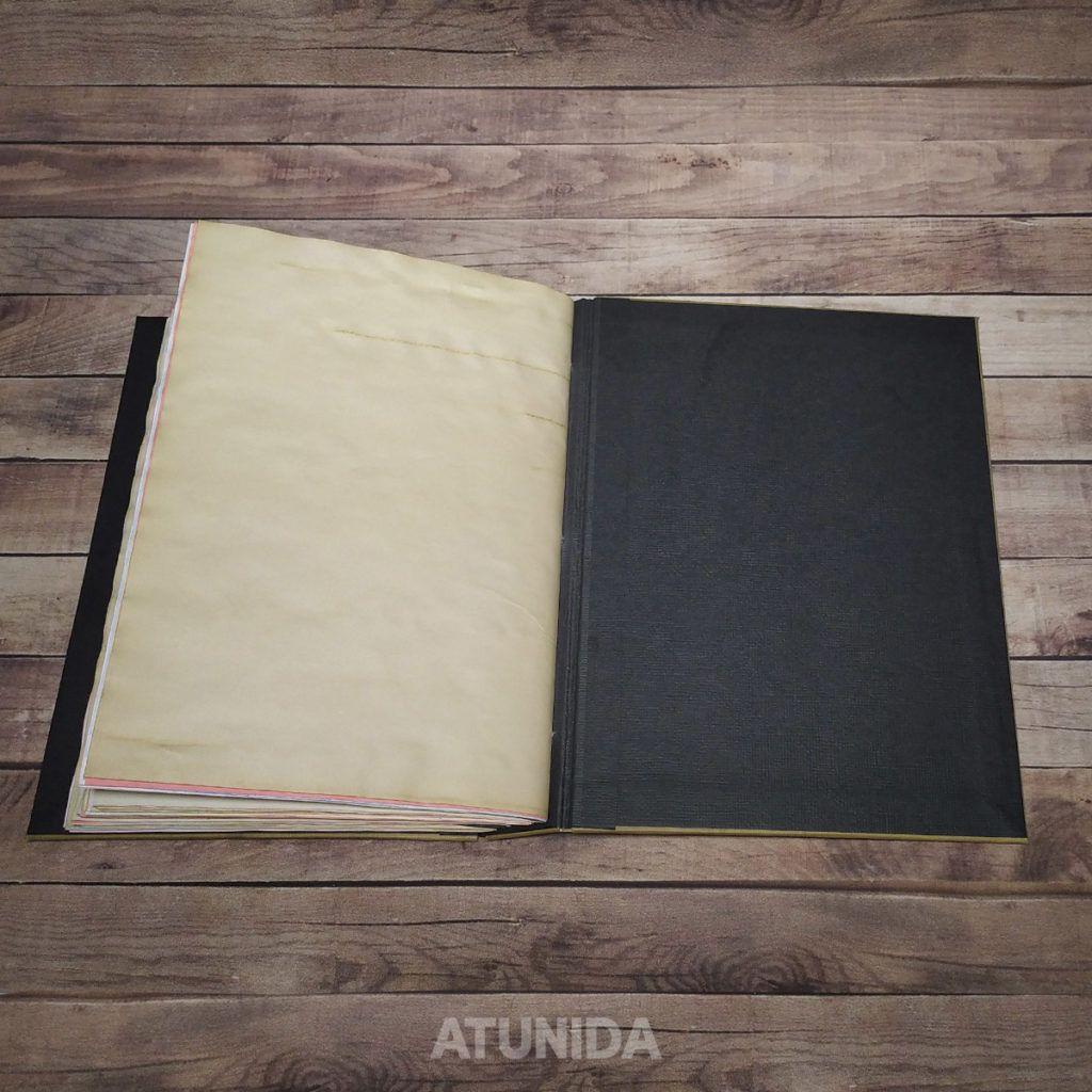 Diario Guitarra hecho a mano inspirado en la música