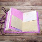 Diario fantasía morada elaborado a mano