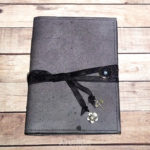Diario fantasía negra elaborado a mano