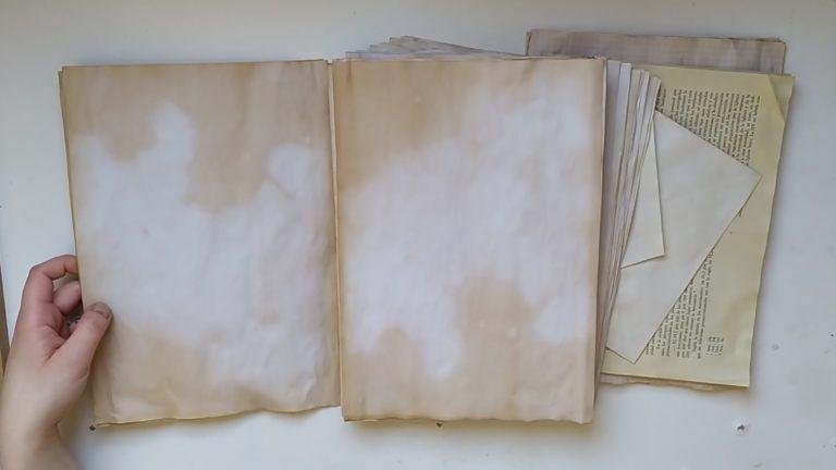Cómo envejecer papel con té