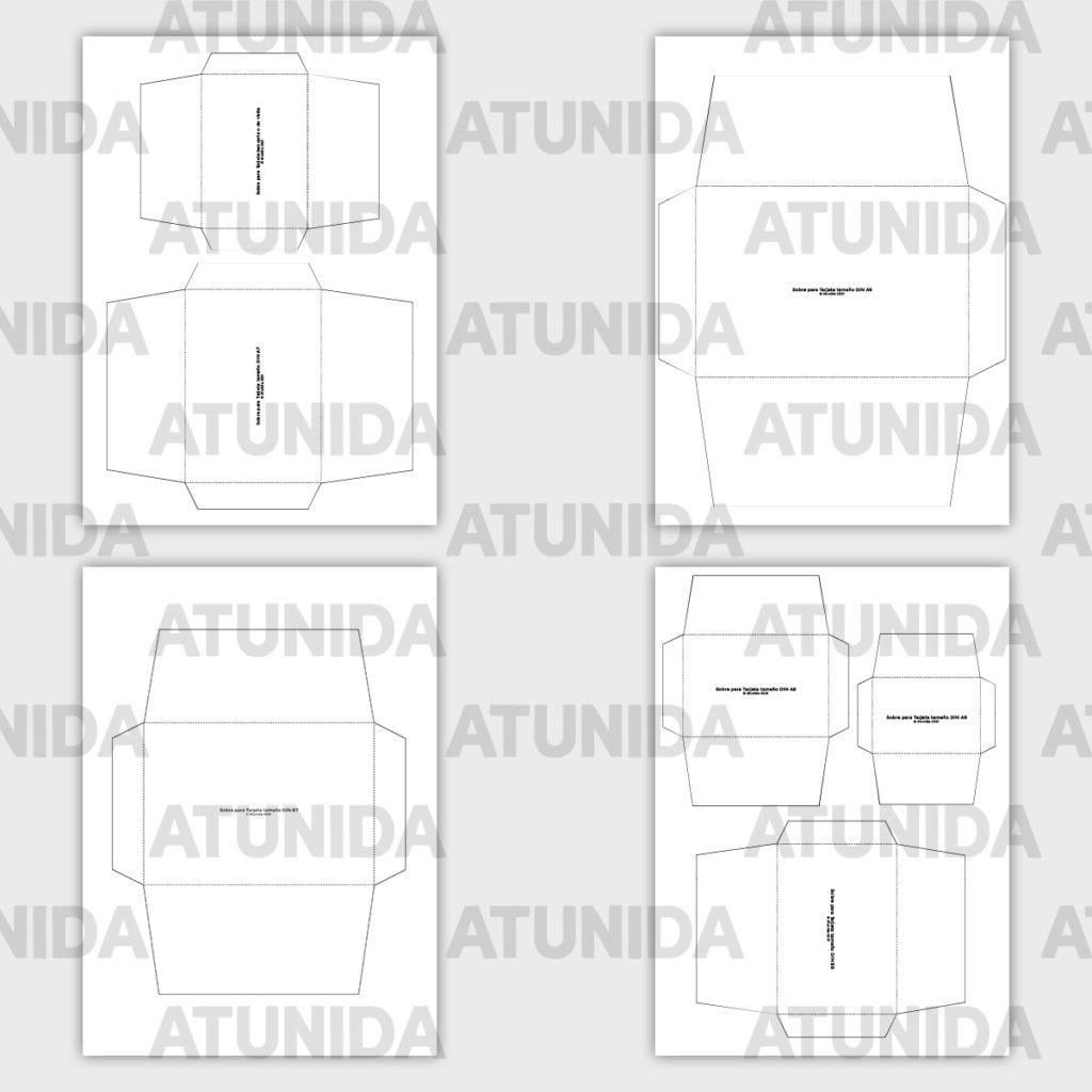 Plantillas de sobres imprimibles para scrap o journaling