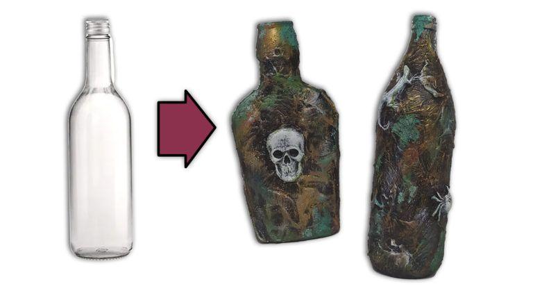 Cómo decorar Botellas de Cristal para Halloween