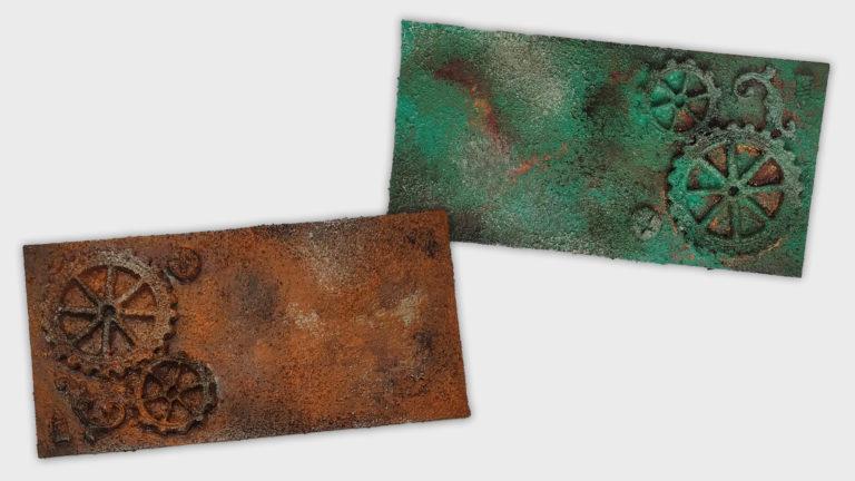 Técnica de pintura: efecto óxido con acrílico