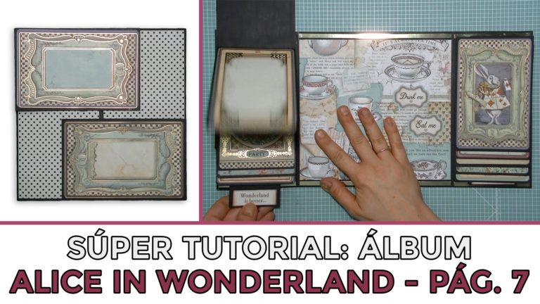 Cómo hacer Álbum Alice in Wonderland - Página 7