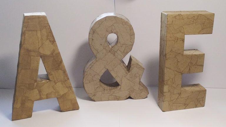 Tutorial Cómo hacer letras de papel maché