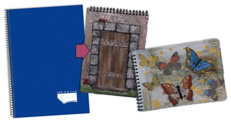 Convertir cuadernos escolares en libretas personalizadas