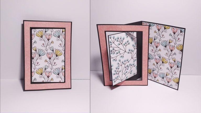 Tutorial Cómo hacer una tarjeta con panel giratorio