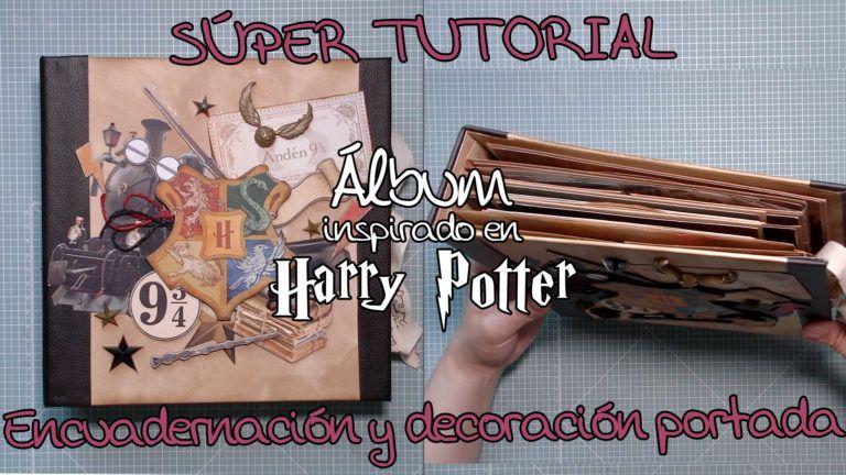 Tutorial Álbum inspirado en Harry Potter - Encuadernación y Portada