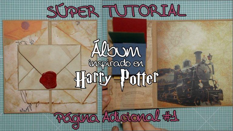 Tutorial Scrapbooking Álbum inspirado en Harry Potter - Página Adicional 1