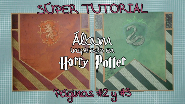 Tutorial Álbum Scrapbook inspirado en Harry Potter