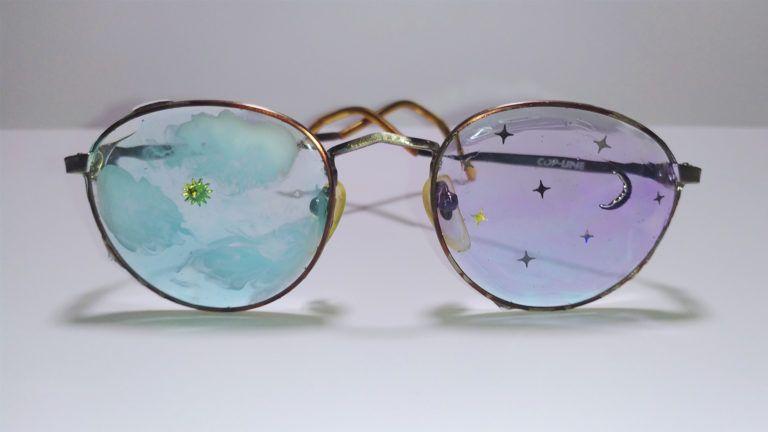 Cómo lo hice: Gafas decoradas con resina epoxi