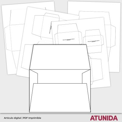 Plantillas de sobres imprimibles para scrap o journalingPlantillas de sobres imprimibles para manualidades